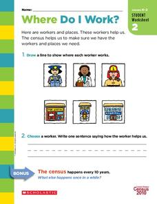 Where Do I Work? Worksheet
