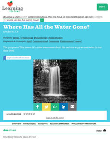 Where Has All the Water Gone? Lesson Plan