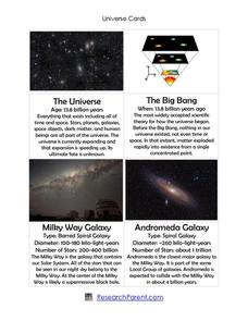 Universe Cards Printables & Template