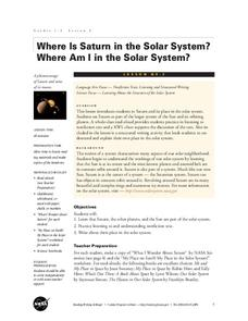 Where Is Saturn in the Solar System? Where Am I in the Solar System? Lesson Plan