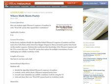 Where Math Meets Poetry Lesson Plan