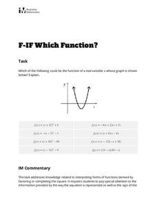 Which Function? Activities & Project