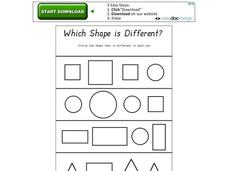 Which Shape Is Different? Worksheet