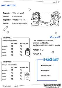Who Are You? Worksheet