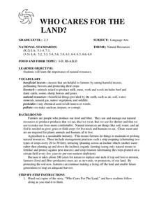 WHO CARES FOR THE LAND? Lesson Plan