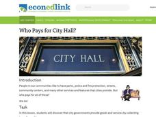 Who Pays for City Hall? Lesson Plan