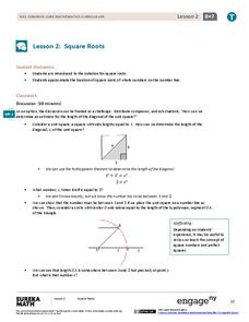 Square Roots Lesson Plan