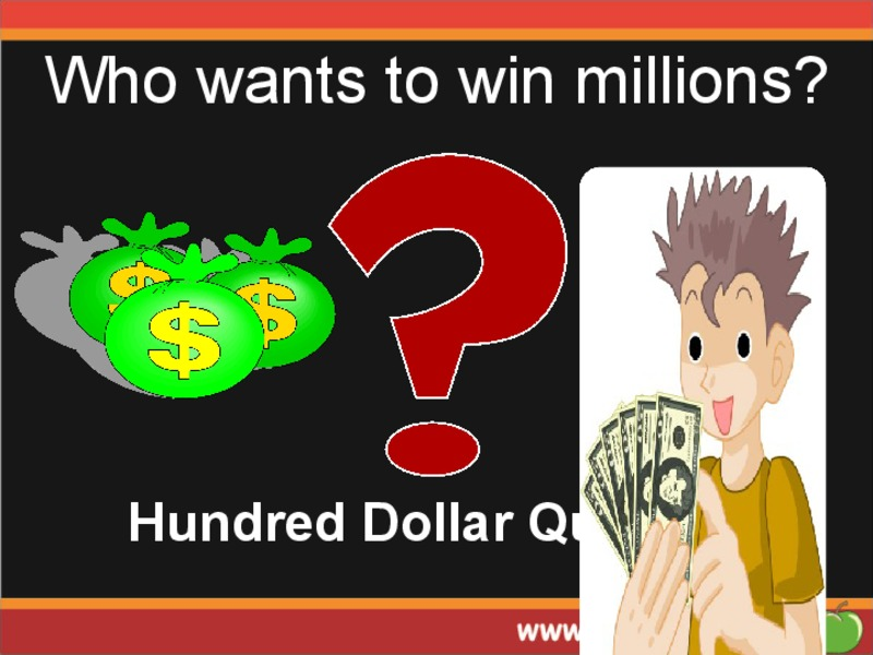 Who Wants to Win Millions? Presentation