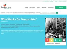 Who Works for Nonprofits? Lesson Plan