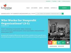 Who Works for Nonprofit Organizations? Lesson Plan