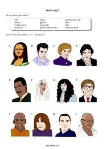 Who's Who? Worksheet