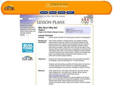 Why Here? Why Not There? Lesson Plan
