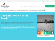 Why Should We Clean the Beach? Lesson Plan