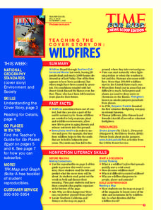 Wildfires Lesson Plan