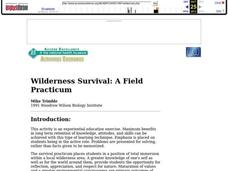 Wilderness Survival: A Field Practicum Lesson Plan