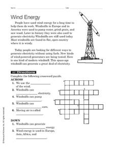 Wind Energy Worksheet