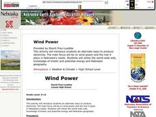 Wind Power Lesson Plan