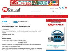 Wipe-out Silent Jump Rope Workout Lesson Plan