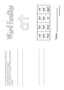 Word Families Worksheet