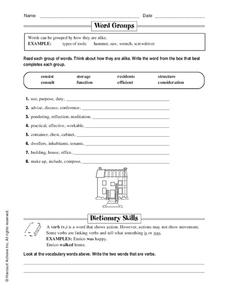 Word Groups Worksheet