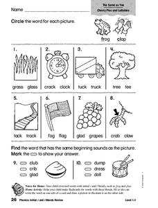 Word Identification Worksheet