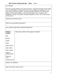 Word Problem Solving Strategies Worksheet