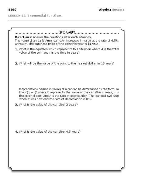 word problems and algebra worksheet for 8th 10th grade lesson planet. Black Bedroom Furniture Sets. Home Design Ideas