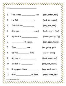Word Recognition Lesson Plan