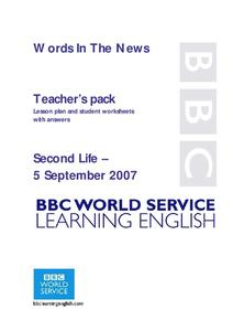 Words In The News Lesson Plan