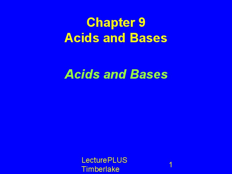 Acids and Bases Presentation
