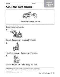 Act It Out With Models: English Learners Worksheet
