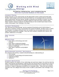 Working with Wind Energy Lesson Plan