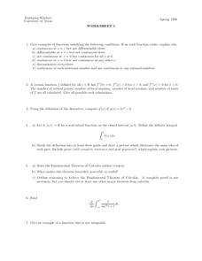 Worksheet 1 Lesson Plan