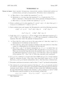 Worksheet 10 Worksheet