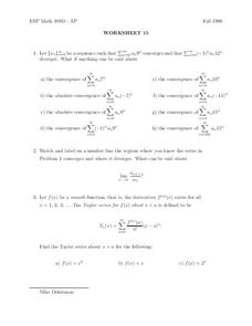 Worksheet 15 Worksheet