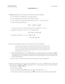 Worksheet 16 Worksheet