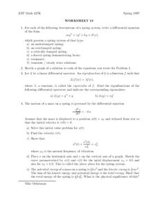 Worksheet 19 Worksheet
