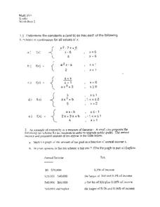 Worksheet 2 Worksheet