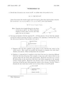Worksheet 20 Worksheet