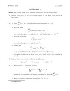 Worksheet 21 Worksheet