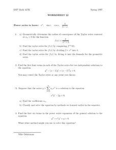 Worksheet 22 Worksheet