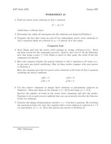 Worksheet 23 Worksheet