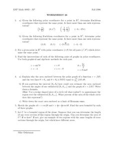 Worksheet 26 Worksheet