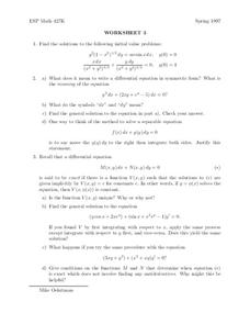 Worksheet 3 Worksheet