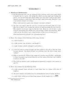 Worksheet 5 Worksheet
