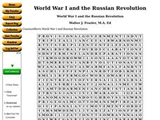 World War I and the Russian Revolution Worksheet