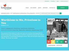 Worthless to Me, Priceless to You Lesson Plan