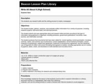 Write All About It Lesson Plan