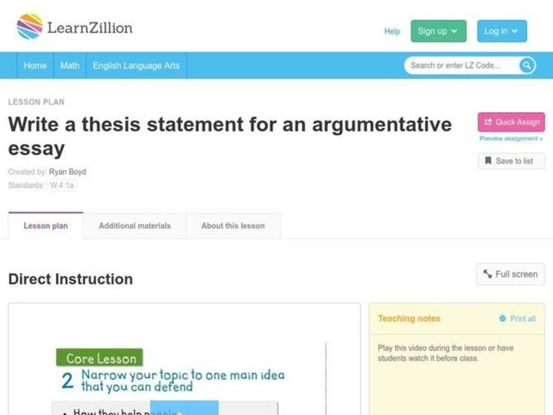 write a thesis statement for an argumentative essay video for rd   write a thesis statement for an argumentative essay video