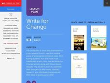 Write for Change Lesson Plan